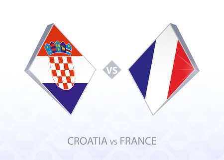 Europe football competition Croatia vs France, League A, Group 3. Vector illustration.