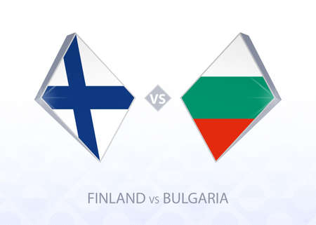 Europe football competition Finland vs Bulgaria, League B, Group 4. Vector illustration.