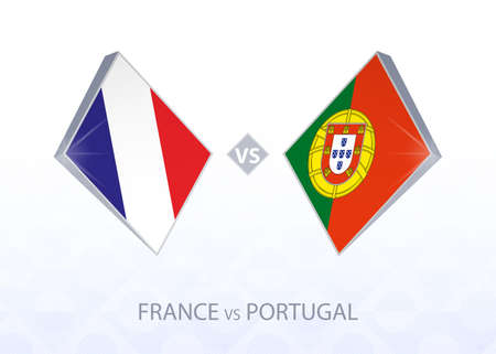 Europe football competition France vs Portugal, League A, Group 3. Vector illustration.
