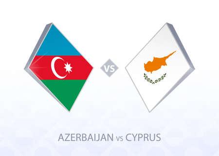 Europe football competition Azerbaijan vs Cyprus, League C, Group 1. Vector illustration.