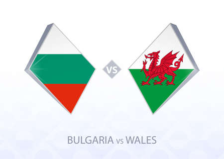 Europe football competition Bulgaria vs Wales, League B, Group 4. Vector illustration.