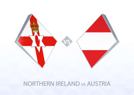 Europe football competition Northern Ireland vs Austria, League B, Group 1. Vector illustration.