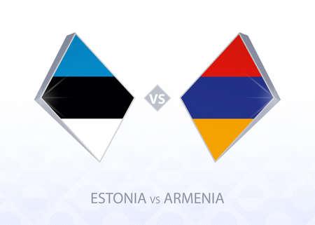 Europe football competition Estonia vs Armenia, League C, Group 2. Vector illustration.