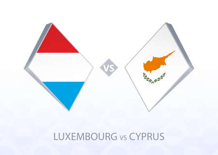 Europe football competition Luxembourg vs Cyprus, League C, Group 1. Vector illustration.