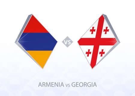 Europe football competition Armenia vs Georgia, League C, Group 2. Vector illustration.