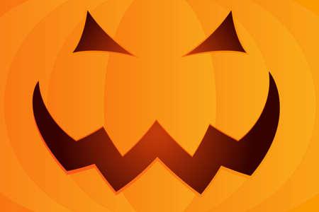 Halloween pumpkin face background. Vector Halloween cartoon Illustration.