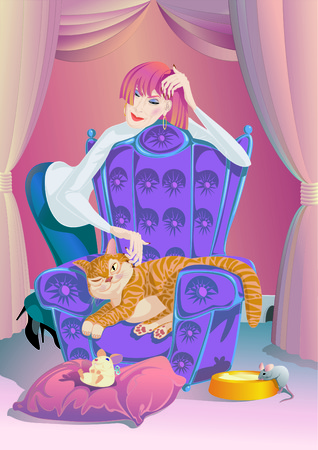 pampered: Lady With The Cat