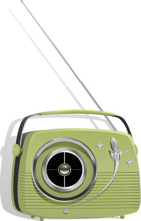 frequency modulation: Retro Styled Portable Transistor Radio