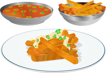 side dish: Carrot Sticks And Slices Stock Photo