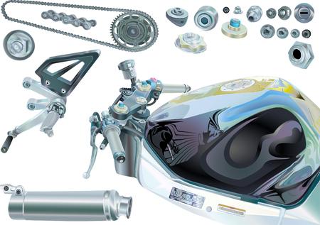 Motorcycle Elements Stock Photo