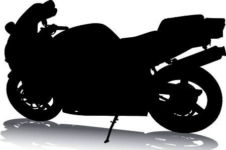 parking disk: Motorcycle Silhouette