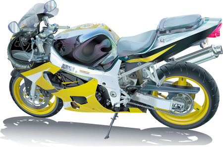 welded: Motorcycle illustration