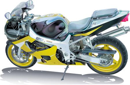 marvel: Motorrad-Illustration