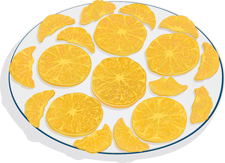 Orange Slices Çizim