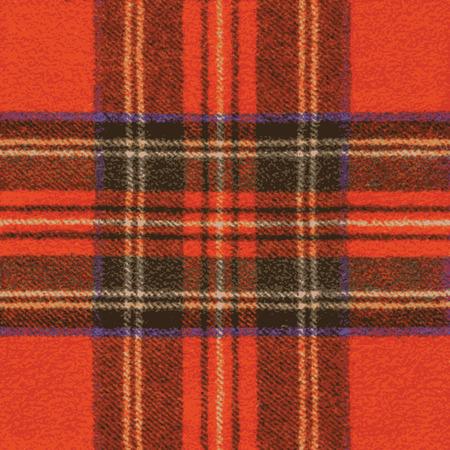 Woolen Red Fabric With Tartan Pattern - Illustration