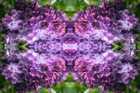 A kaleidoscopic abstract concept of a glowing lilac portal to another world