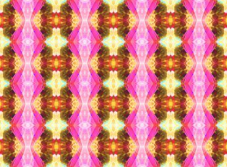 A symmetrical bright kaleidoscopic pattern of glowing plasma