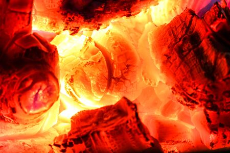 flammable: Burning of carbon as charcoal