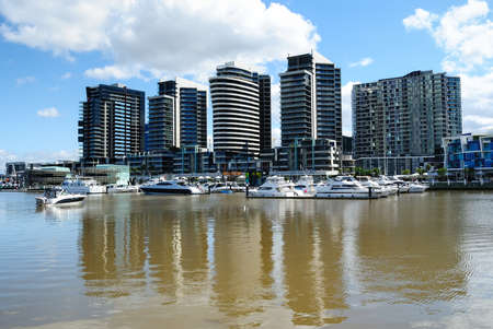 Luxury waterfront apartments at New Quay in Melbourne, Docklands Stock Photo - 10867937