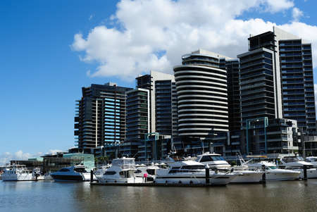 Luxury waterfront apartments at New Quay in Melbourne, Docklands Stock Photo - 10867943