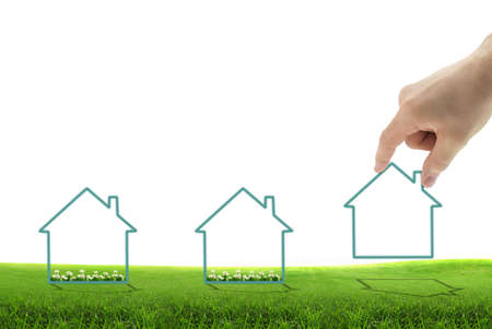 Imagem conceitual de um novo desenvolvimento, para o negócio imobiliário ou de construção Imagens
