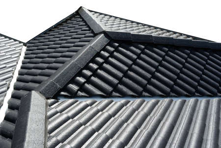 Brand new roof tiles isolated on white background Stock Photo - 14630971