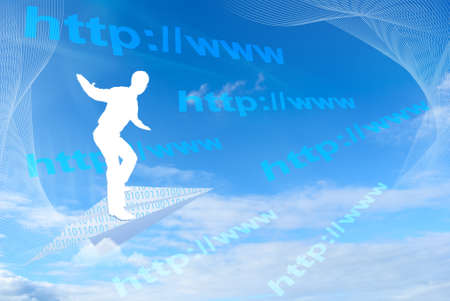 website wide window world write www: Browsing or surfing the internet, concept background Stock Photo