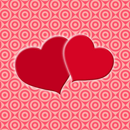 anniversary card: Square Valentines Day background for wedding or greeting card