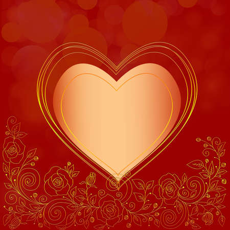Square Valentines Day background for wedding or greeting card photo