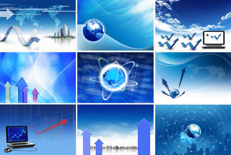 Business and communications elegant abstract blue backgrounds photo