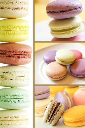 parisian: Fresh baked macaroons ready to serve, city lifestyle concept