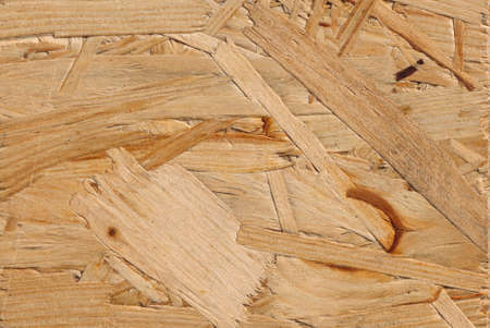 osb: High resolution recycled compressed wood chippings board Stock Photo