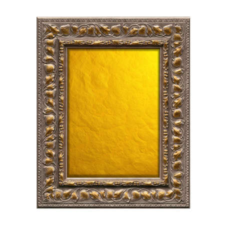 High resolution picture frame isolated on white photo