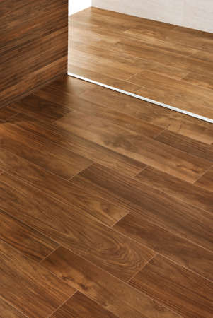 Hardwood floors and walls with moldings details Stock Photo - 22427582