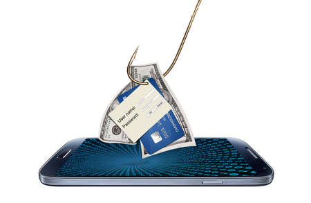 Hacking or phishing login, password or credit card detail Banque d'images