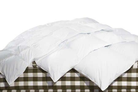 duvet: Close up of luxury duvets over white background