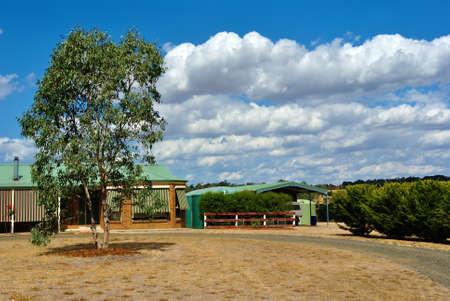 rural development: Rural Australian Farm in Country Victoria, Australia  Editorial