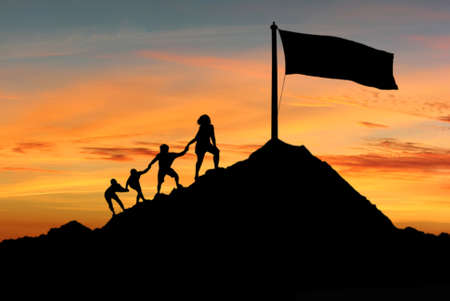 人々 は彼らの目標、欲望や願望の概念を達成するために互いを助ける