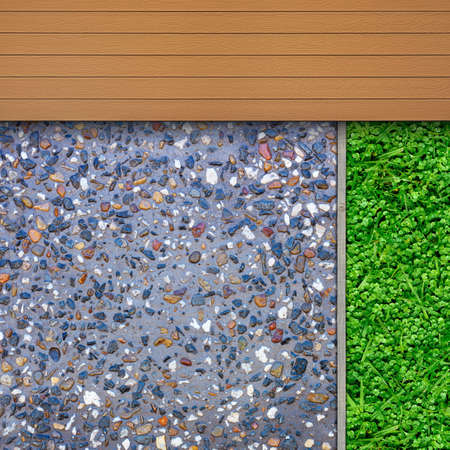 aggregate: Garden design details, timber and aggregate