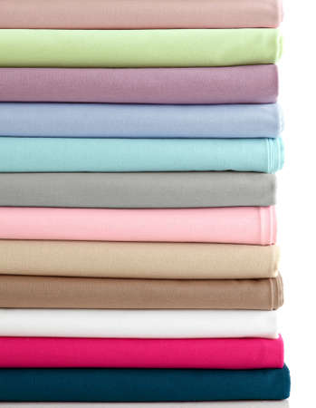 polyester: Rolls of colorful fabric as a vibrant background image