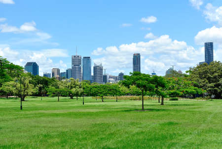 garden settlement: Beautiful Green City Park Brisbane Australia Stock Photo