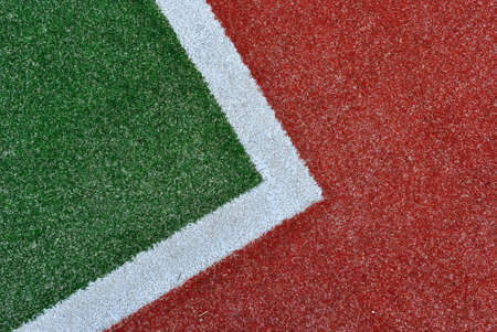 tennis stadium: Green, white and red tennis court background texture