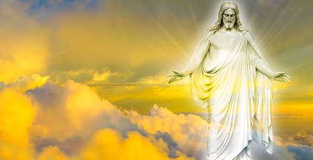 Jesus Christ in Heaven religion concept Standard-Bild