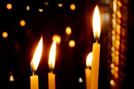 liturgy: Christmas candles over black Christmas background