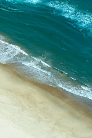 fragile peace: Aerial view of tropical beach high angle view travel or summer concept