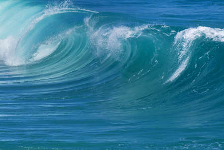 aqua background: Breaking ocean wave abstract background concept
