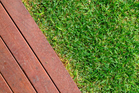 Landscaping combinations of grass and timber