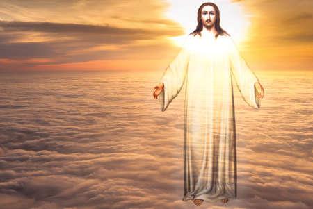 Jesus Christus im Himmel mit Wolken Himmel