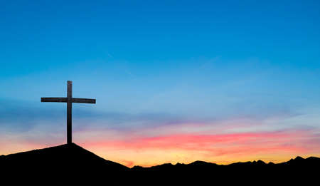 easter morning: Beautiful Easter Morning Sunrise Panoramic view Stock Photo