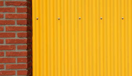 textures: Wellstahlblech und Mauer Hintergrund